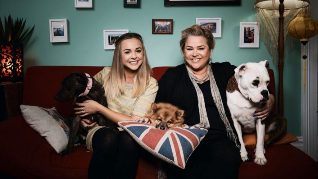 Angie first appeared on our screens in 2015 on GoggleBox alongside her bestie Yvie Jones. Source: Foxtel.