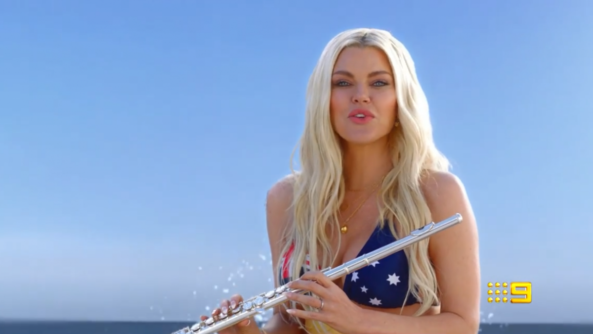 Love Island host Sophie Monk is back on October 11 to play cupid to the Islanders. Source: Nine.
