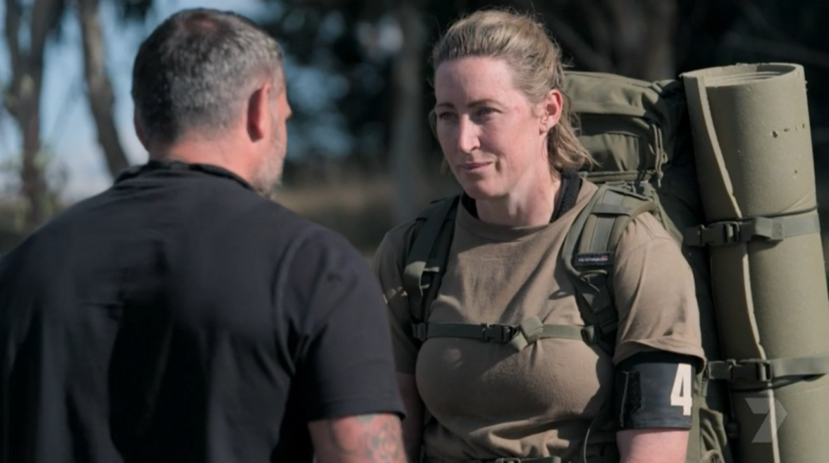 Jana Pittman left the course after she failed the final extraction exercise. Source: Channel 7.