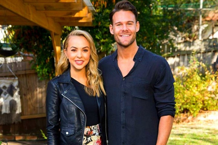 Angie finished her Bachelorette journey loved-up with personal trainerCarlin Sterritt, but the pair sadly split in July 2020. Source: Ten.