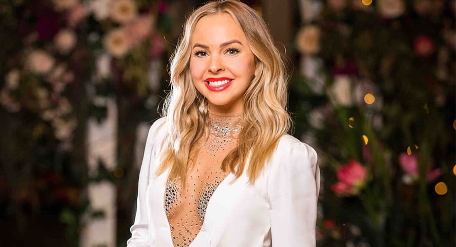 """Angie Kent confesses she was """"stitched up"""" with """"average"""" contestants on The Bachelorette 2019. Source: Network Ten."""
