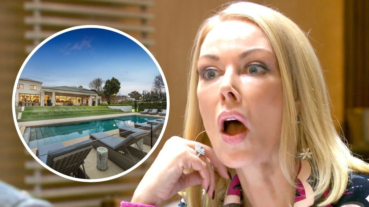 Real Housewives of Melbourne star Janet Roach is the new housewife of a brand new $43 million dollar Toorak mansion with partner Sam Gance.